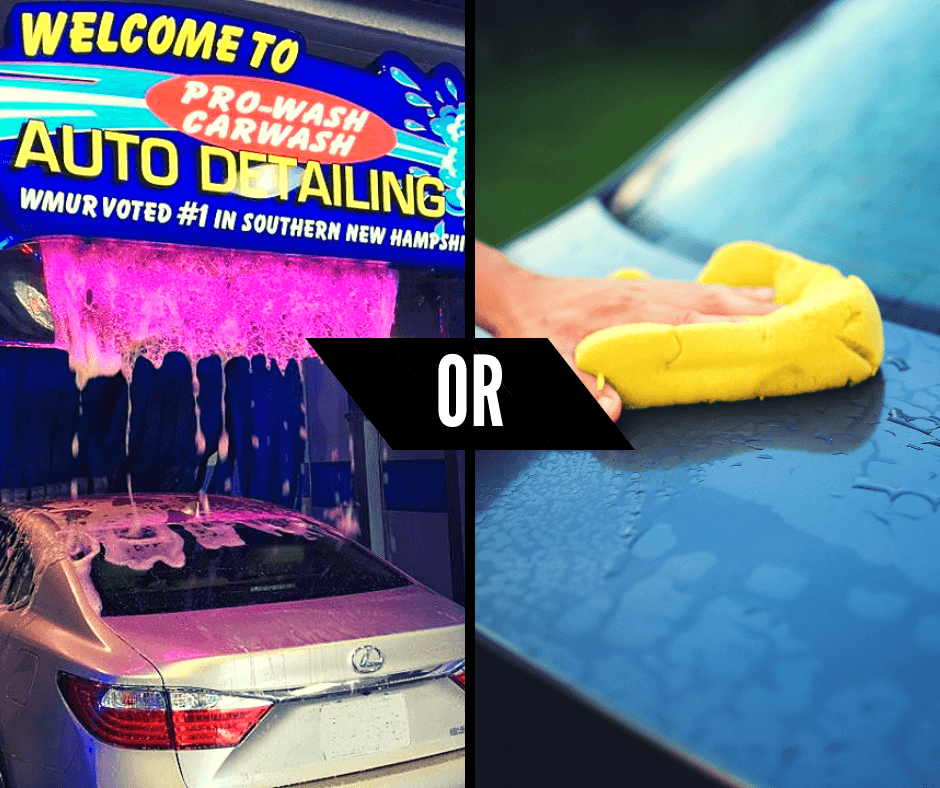 Professional Car Wash vs  Self Car Wash